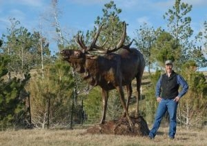 Black Timber Bugler 1.15 Life-size TIM SHINABARGER- Art Castings of Montana, Inc.