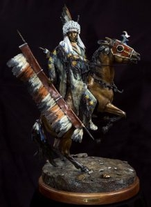 Cheyenne War Party Leader <br>Sculpture By Dave Lemmon - Art Castings of Montana, Inc. Dave Lemon Bronze Sculpture