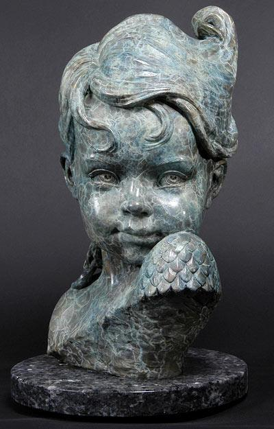 Child of Atlantis<br> Sculpture by Philippe Faraut - Art Castings of Montana, Inc. Philippe Faraut Art Cast Foundry