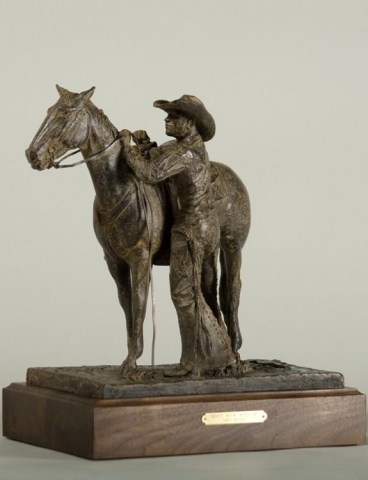 Don`t Buck With Me<br>Cowboy Horse Bronze Sculpture by Greg Kelsey - Art Castings of Montana, Inc. Greg Kelsey Art Cast MT