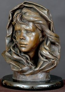 Fishermans Daughter<br> Sculpture by Philippe Faraut - Art Castings of Montana, Inc. Philippe Faraut Art Cast Foundry