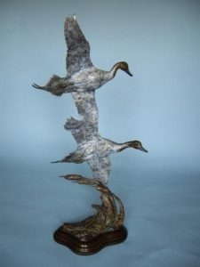 Gentlemen of the Marsh<br>Pintail Duck Sculpture by Ott Jones - Art Castings of Montana, Inc. Ott Jones Art Cast Montana