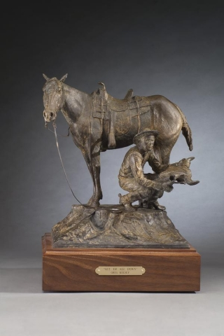 Get `Er All Down <br>Bronze Sculpture by Greg Kelsey - Art Castings of Montana, Inc. Greg Kelsey Art Cast MT