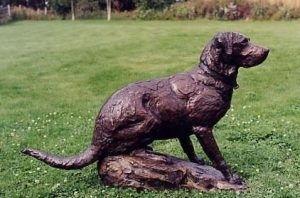 Grand Companion <br>Life-size Golden Retriever Sculpture by Ott Jones - Art Castings of Montana, Inc. Ott Jones Art Cast Montana