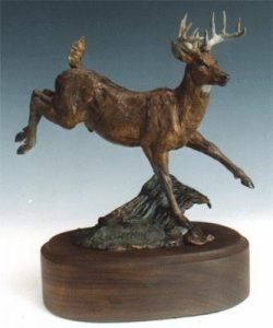 Lightnin` <br>Whitetail Deer Sculpture by Ken Mayernik - Art Castings of Montana, Inc. Ken Mayernik Art Cast MT