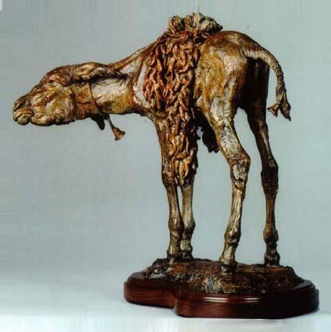 Pepper Peddler <br>Donkey Sculpture by Richard Loffler - Art Castings of Montana, Inc. Richard Loffler Bronze Foundry