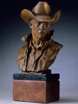 Searchin` the Horizon<br>Cowboy Bust Bronze Sculpture by Greg Kelsey - Art Castings of Montana, Inc. Greg Kelsey Art Cast MT