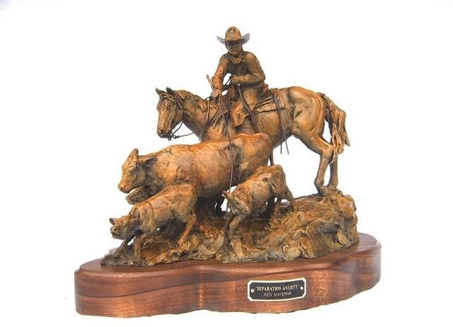Separation Anxiety<br>Calving / Ranching Sculpture by Ken Mayernik - Art Castings of Montana, Inc. Ken Mayernik Art Cast MT