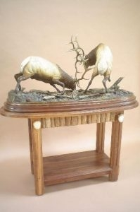 September Madness<br>Bull Elk Sculpture by Sam Terakedis - Art Castings of Montana, Inc. Sam Terakedis Art Casting Foundry