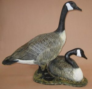 Soul Mates<br> Canadian Geese Sculpture by Sam Terakedis - Art Castings of Montana, Inc. Sam Terakedis Art Casting Foundry