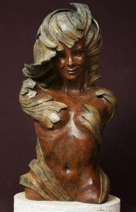 Spring<br> Sculpture by Philippe Faraut - Art Castings of Montana, Inc. Philippe Faraut Art Cast Foundry