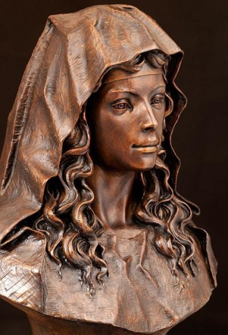 St. Brigid <br> Sculpture by Philippe Faraut - Art Castings of Montana, Inc. Philippe Faraut Art Cast Foundry