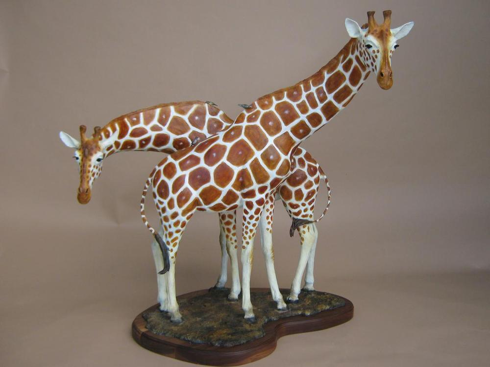 Tall Blondes <br> Giraffe Sculpture by Sam Terakedis - Art Castings of Montana, Inc. Sam Terakedis Art Casting Foundry